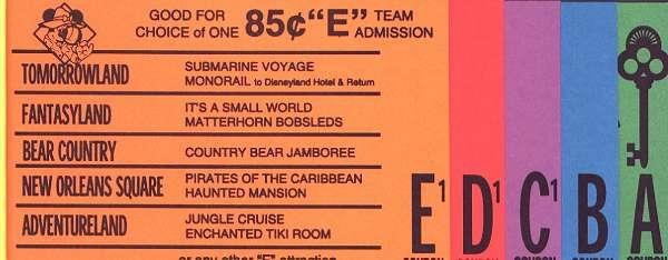 Disneyland Ticket booklet