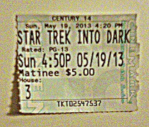 star trek movie ticket