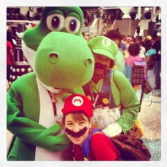 Lani with her Super Mario Crew.