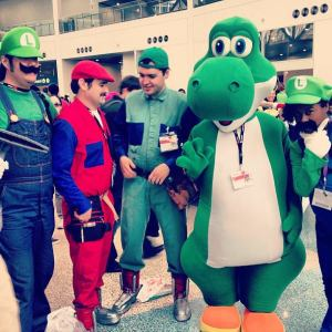 Lani all the way to the right with all the other Super Mario Bros. LA Anime Expo
