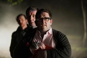 Nick Frost, Paddy Considine, Simon Pegg.