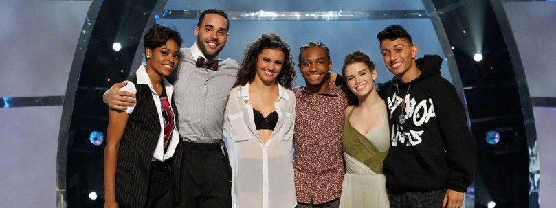Season's 10 top 6:Aaron, Jasmine, Fik Shun, Amy, Paul, and Hayley./photo: Danceonfox.com