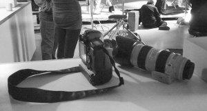Look at the camera arsenal.