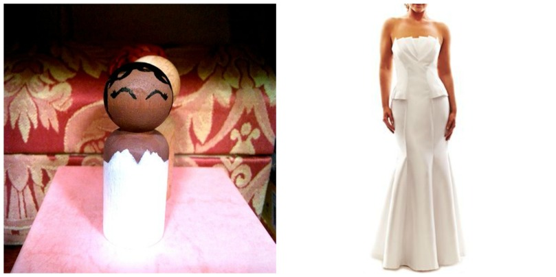 Wedding cake bride, and her wedding dress/photos: Lani, and Jcp