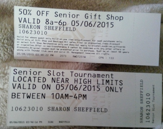 Here's the proof of my discounts that I didn't use or need!!!
